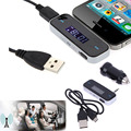 Mini Electronic Car Transmitter MP3 Player For Phone Wireless 3.5mm In-car Music Audio FM Transmitter Car Charger Radio Adapter