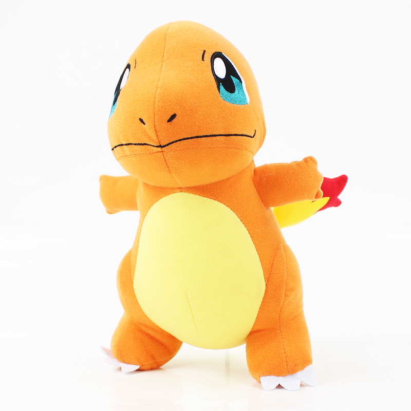 28cm Cute Anime Charmander Dragon Plush Toy Hitokage Soft Stuffed Standing Dragon Toy Game Soft Doll Free Shipping stuffed toy