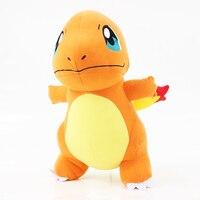 28cm sevimli Anime Charmander ejderha peluş oyuncak Hitokage yumuşak dolması ejderha oyuncak oyunu yumuşak bebek ücretsiz kargo