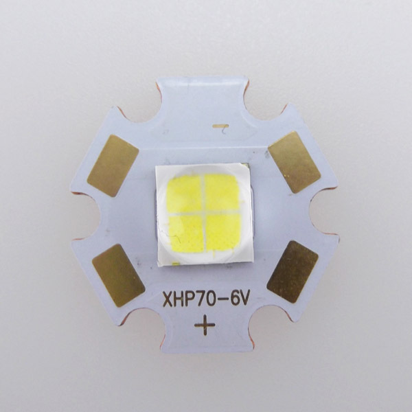 32W 6V CREE XHP70 N4 6500K Cool White 4022lm LED Emitter with 20x1.6mm Copper Heating Star