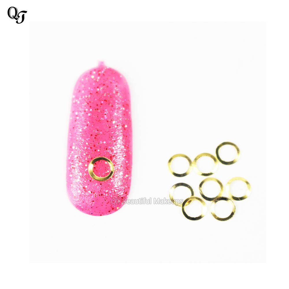 Fancy Manicure Salon Decoration: New Metal Gold Round Nail Art Metal Sticker Nail Art