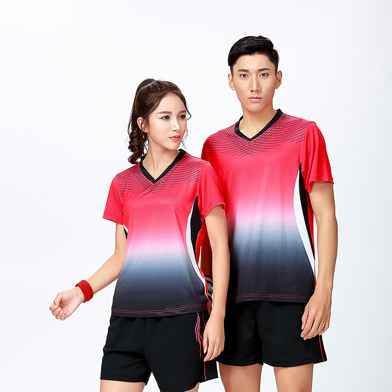 New Sports clothes Badminton wear shirt Women/Mens ,sports Tennis shirts, Table Tennis tshirt , Quick dry sportswear shirt 8803