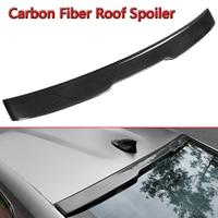 1x Carbon Fiber Rear Roof Spoiler Car Rear Wing Spoiler For Chevy Camaro LT RS Sport 2016 2018 Auto Spoiler Rear Window Wing Car