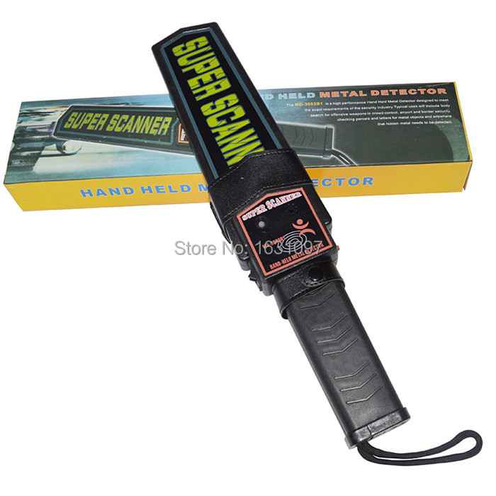 super scanner hand held metal detector md-3003b1 audio or vibrator alarm