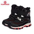 FLAMINGO 2016 new collection winter fashion snow boots with wool quality anti-slip kids shoes for boy W6YC001M