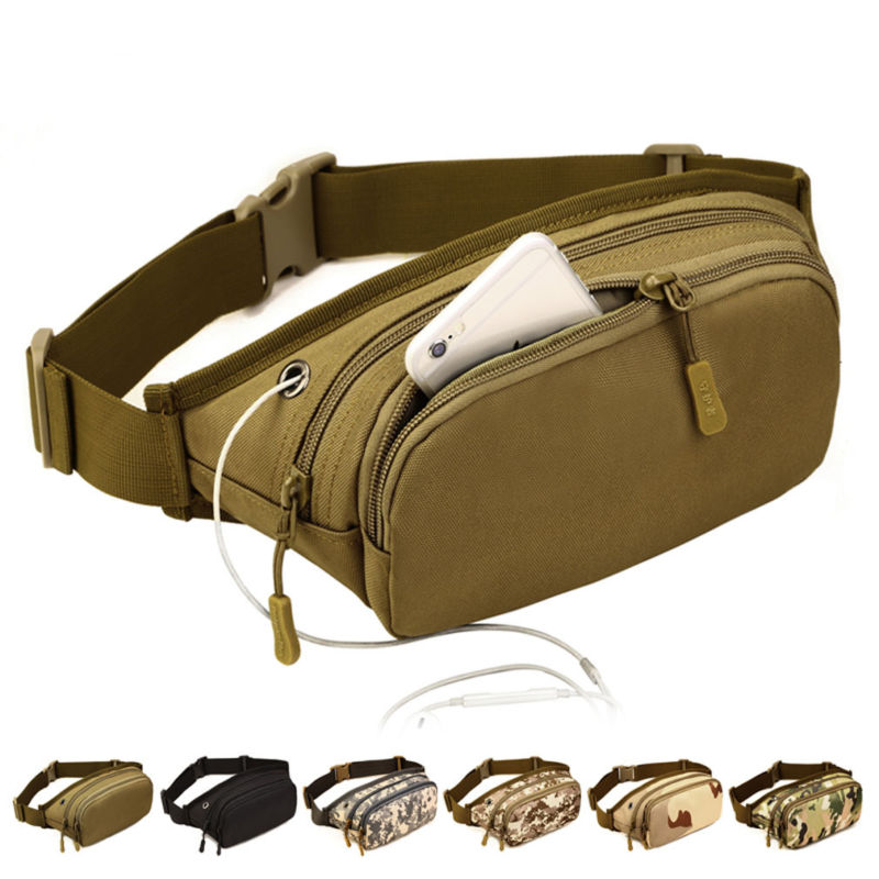 Men Nylon Waterproof Sling Chest Fanny Pack Waist Bag Travel Military Hip Bum Belt Messenger Shoulder Pouch Purse Packet