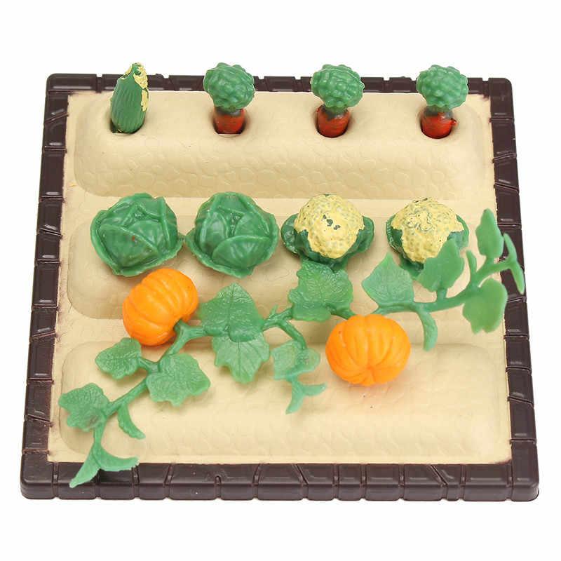 المنمنمات البستنة الخضار الزهور الغذاء مجموعات أثاث ل بيت الدمية الاكسسوارات اللعب البلاستيك الحرفية الاطفال هدية الكريسماس