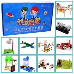 Promotie pack 7 # DIY Speelgoed tien soorten verschillende elektronica onderwijs self assembly kit voor: science DIY kits Kind