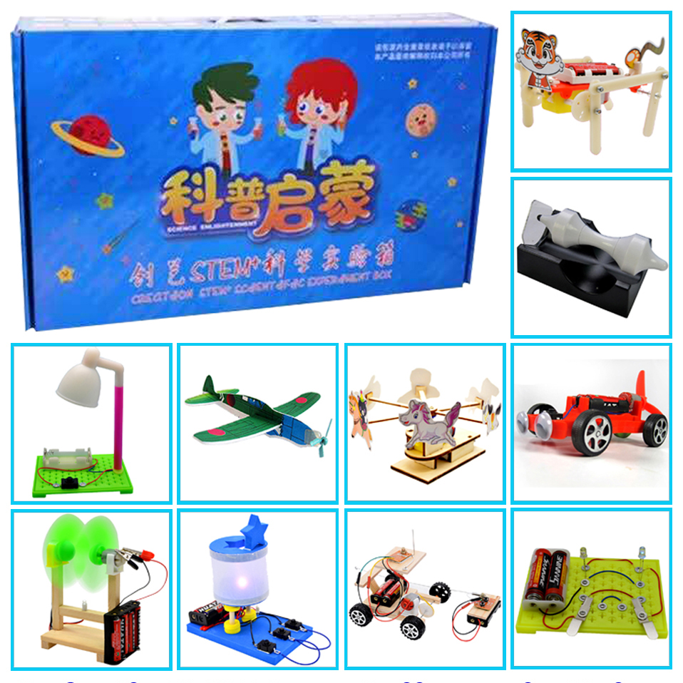 Promotion Pack 7# DIY Toys Ten Kinds Of Different  Electronics Education Self Assembly Kit For:science DIY Kits Child