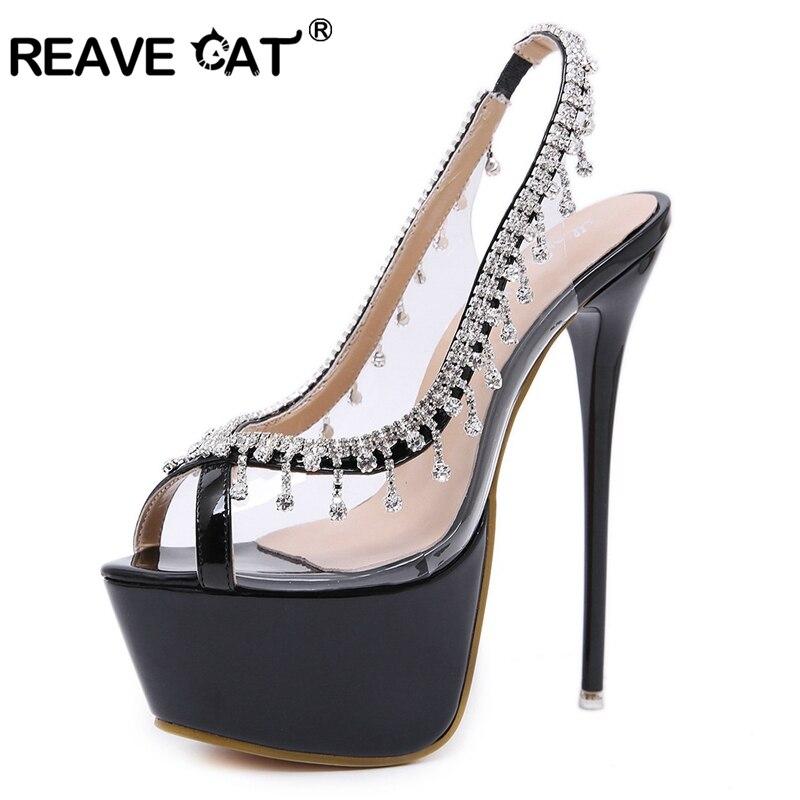 Été A1522 Transparent Printemps Haute Sexy Noir Black Plate forme Chat Mode Reave Mince Talons Partie silver Pompes De Femmes Argent Chaussures fyv7bgY6
