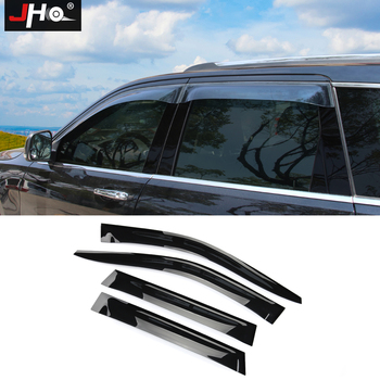 JHO Off Road Car Accessories Sun Rain Guard Side Window Visors For 2014-2018 Jeep Grand Cherokee 2015 2016 2017 Limited WK2
