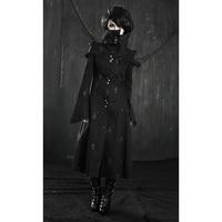 Ретро панк гот Рок вампира длинное пальто человек куртка черного кэрэ зима эмо ветровка Y209