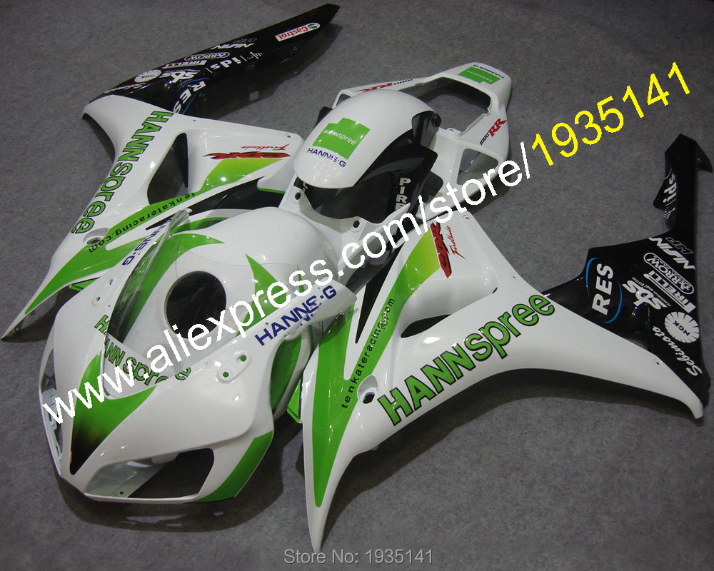Hot Sales,For Honda 1000RR 2006 2007 CBR1000RR 06 07 1000 RR CBR1000 hannspree Motorbike Bodywork Fairing (Injection molding)
