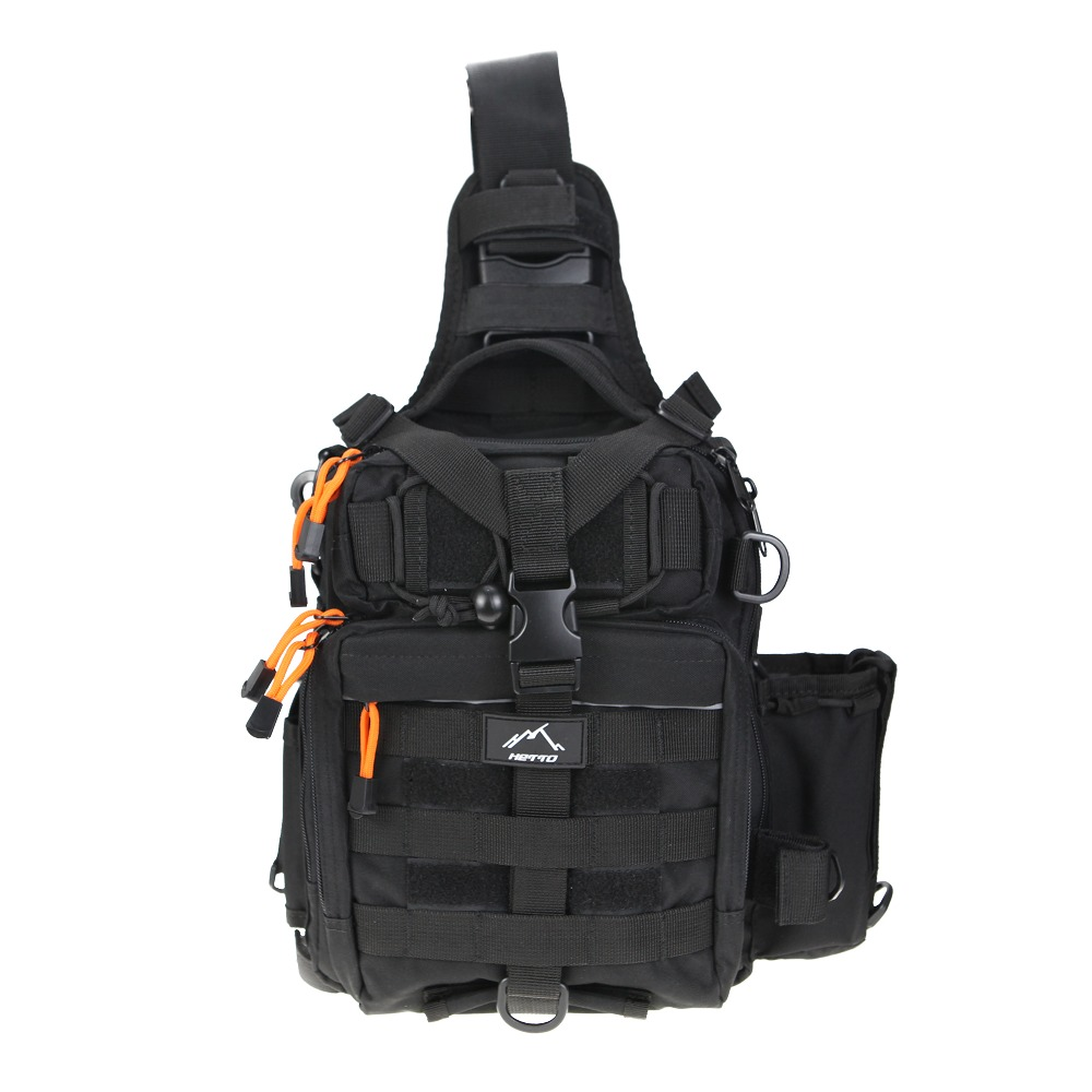 Hetto Tactical Sling Bag Chest Pack MOLLE Nylon 1000D Waterproof Crossbody Backpack Military Shoulder Bag for Outdoor, Day Use aputure ls mini 20 3 light kit two mini 20d and one mini 20c led fresnel light tlci cri 96 40000lux 0 5m 3 light stand case