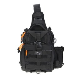 Hetto Tactical Sling Bag Chest Pack MOLLE Nylon 1000D Waterproof Crossbody Backpack Military Shoulder Bag for Outdoor, Day Use