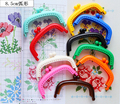 8.5cm colorful resin coin purse mouth golden clasp DIY pitch work plastic metal frame 5pcs/lot