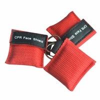 Оптовая продажа 500 шт./лот КПП реаниматолог маска брелок с свободное дыхание барьер аварийного лицо щит красный мешочек укутать