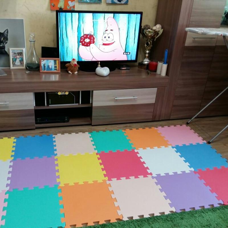 Marjinaa baby EVA Foam Play Puzzle Mat/ 20 or 30/lot Interlocking Exercise Tiles Floor Carpet Rug for Kid,1cmThick sand shell starfish pattern floor area rug