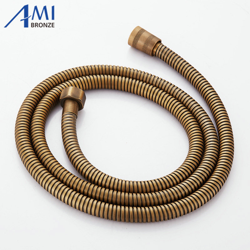 Amibronze 1Pcs High Quality 1.5m Flexible Shower Hose Plumbing Hose Stainelss Steel Bathroom Accessories Water Pipe purple pipe sloth polyester shower curtain bathroom high definition 3d printing water proof