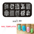 Gel Len Nail Stamping Plate Image Stamps Plate 1 Steel Plates High Quality Nail Polish DIY Nail Art Decoration