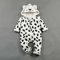 Cute baby boy clothing autumn infant girl coats Hooded animal lion jumpsuits Long Sleeve Unisex baby outfits 2017 fashion