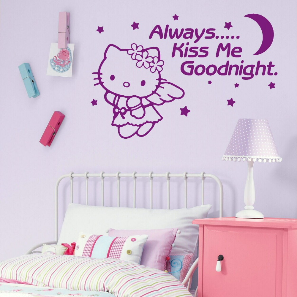 Aliexpress.com : Buy 2016 New Vinyl Wall Stickers For Kids Room Hello Kitty  Quote Decal Girl Nursery Baby Wall Decals Adesivo De Parede Free Shipping  From ... Nice Ideas