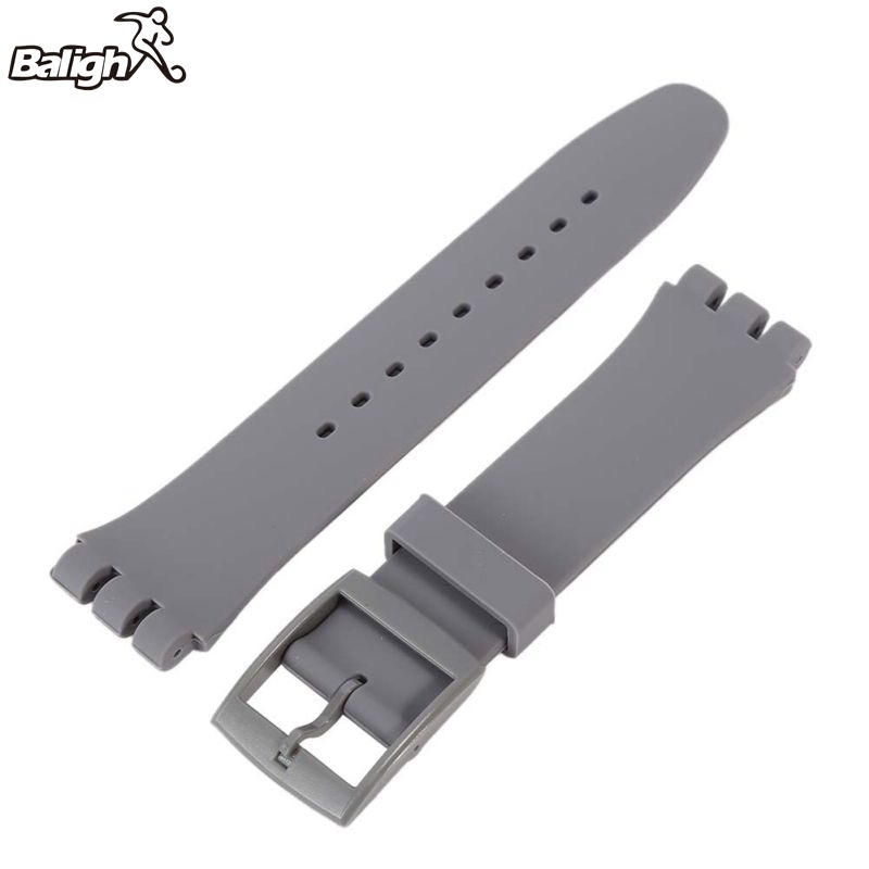 Newest Fashion Triangle Fork Strap Silicone Strap 17 19 20mm Width Watchbands With 6 Colors Optional Transparent Uhrarmband