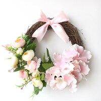 25-30 سنتيمتر كوريا الجنوبية صغير إكليل غرفة الزواج الطوق الحلي للجدار غرفة الزفاف الديكور الزهور الدائري s $