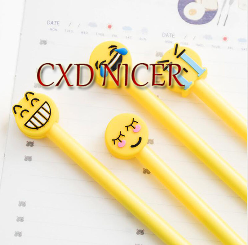 Cute Expression Neutral Pen 0.5Mm Office School Supplies Smiley Face Cartoon Gel Pen Stationery Dd1240