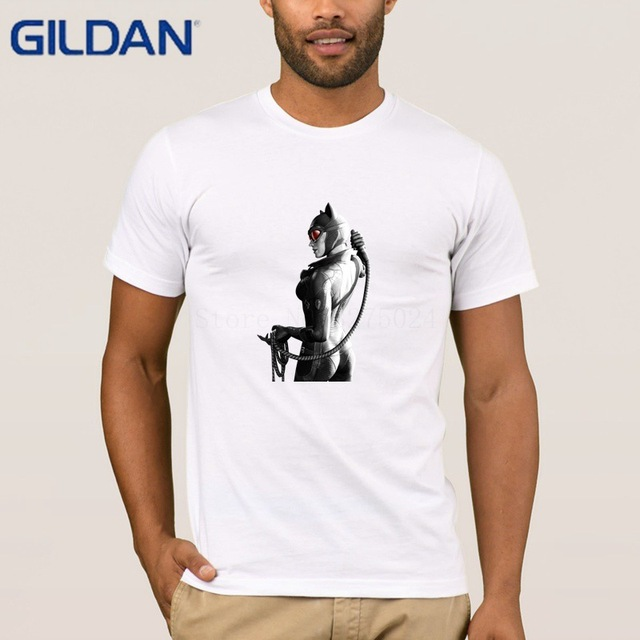 Gildan Printed Unique Mens T Shirt Catwoman Men Super Summer Style Tee