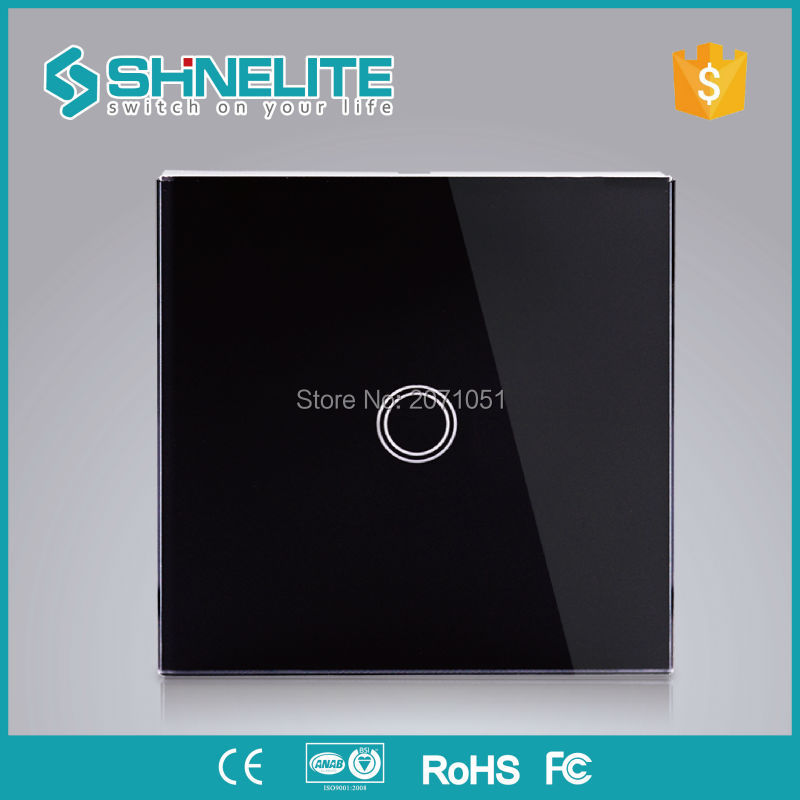 EU Standard Shinelite Touch Switch 1 Gang 1 Way,Wall Light Touch Screen Switch,Crystal Glass Switch Panel 2017 smart home crystal glass panel wall switch wireless remote light switch us 1 gang wall light touch switch with controller