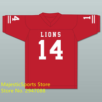 De'Andre Johnson 14 EMCC Lions Red Alternate Football Jersey Stitch Sewn American Football Jersey