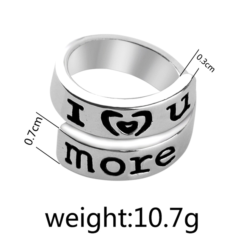 New couple Rings for lovers Promise I Love You Most more Adjustable Creative Rings for girls party dress Valentines day gifts