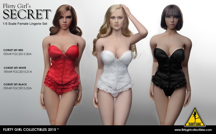 1:6 Scale Female Figure clothes Accessory sexy corset lingerie set for 12 Action figure doll,not include head;body