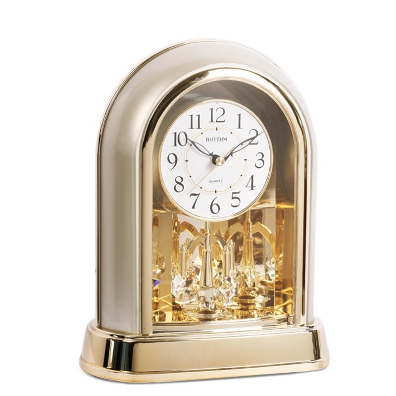 Rythme marque européenne classique Table horloge salon bureau muet moderne mode bureau horloge créative décoration 4SG696