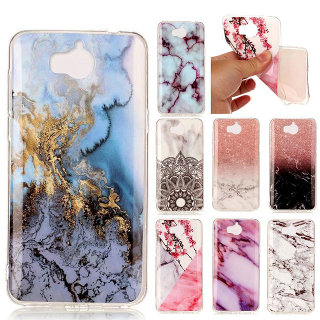 best service d6d78 af155 US $3.06 |Marble Case For Huawei Y6 2017 Case Y5 2017 Cover TPU Soft  Silicon For Funda Huawei Y9 2018 Case for Huawei Y7 Prime 2018 Cover -in  Fitted ...