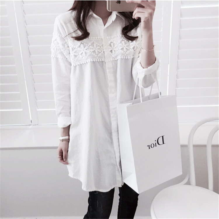 Ladies Lace Sleeve Casual 4