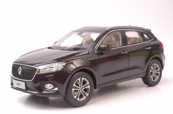 1:18 Diecast Model for Germany BORGWARD BX7 Brown SUV Alloy Toy Car Miniature Collection Gifts BORG WARD