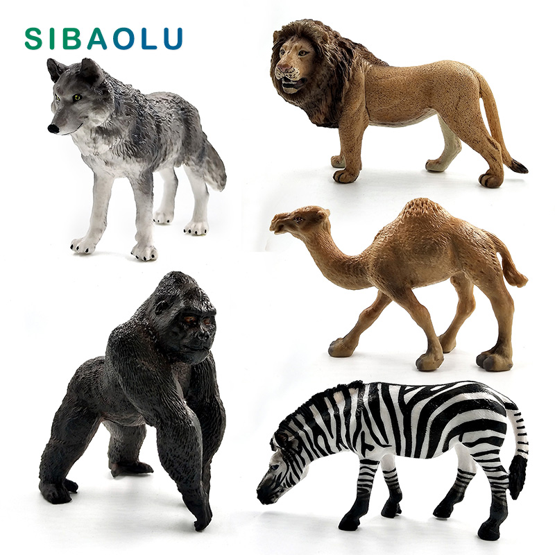 Figurine Lion Zèbre Chimpanzé Simulation De Loup Venu Modèle Animal Décoration Intérieure Mini Fée Accessoires De Décoration Jouets Aliexpress