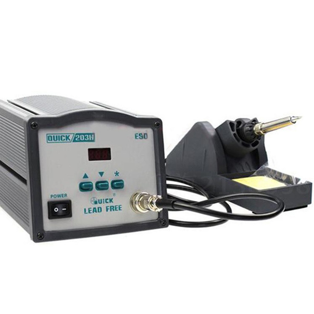 High-power AC 220V Quick 90W ESD safe lead-free digital high frequency eddy welding machine soldering iron station