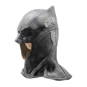 Image 2 - Adult Justice League Latex Batman Mask Cosplay Superhero Bruce Wayne Movie Party Masks Helmet Ball Props Costumes