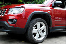цена на High Quality!Black Fender Flares Wheel Arch 10pcs for JEEP COMPASS 2011 - 2015