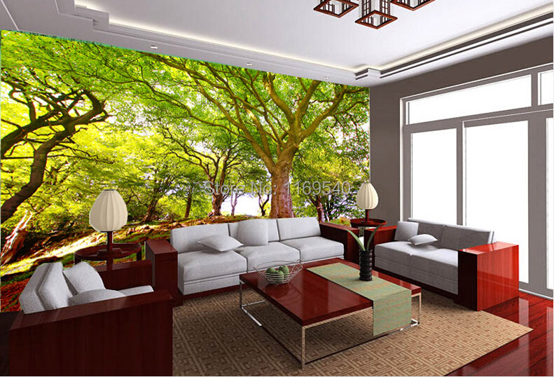 Download 3d wallpaper house decor gallery for Nature wallpaper for living room