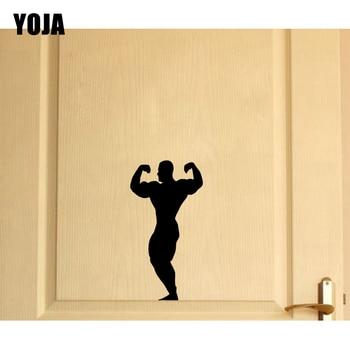YOJA 11.5*22.5CM Wall Sticker Classic Room Door Decor Decal Gym Bodybuilder Big Large  D2-0076