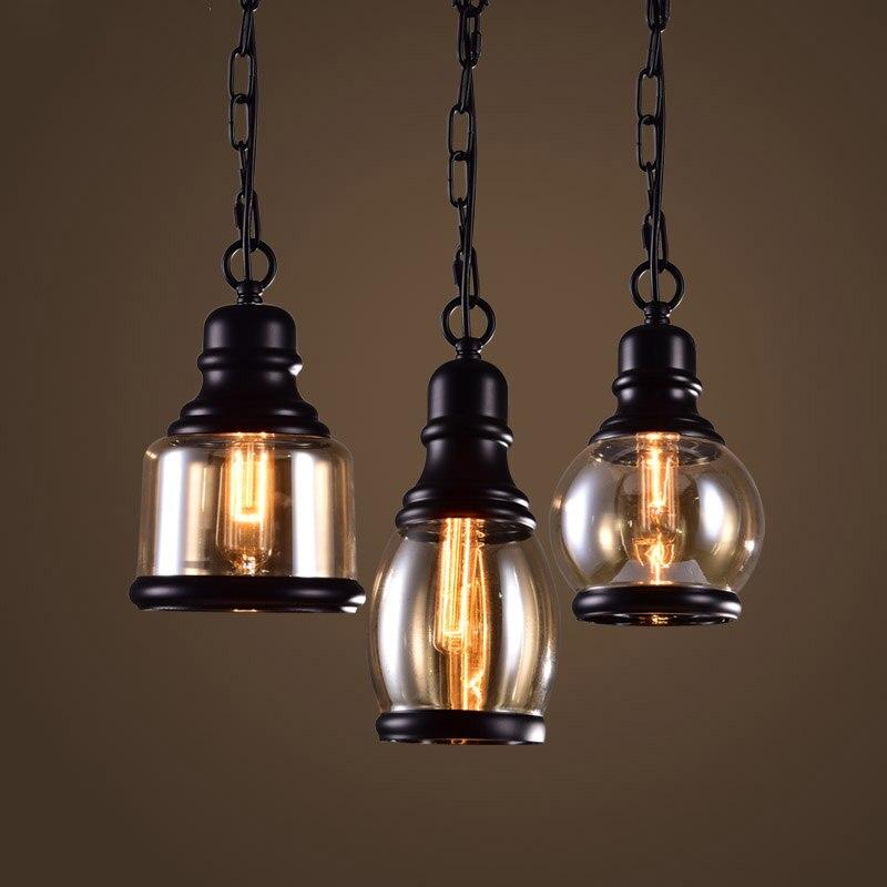 Minimalistischen Vintage Pendelleuchte Pastoralen Glass Drop Licht Retro Land Loft Stil Bar Cafe