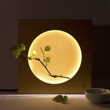 LED table lamp Unexpected romantic evening Her Private Moon Wooden ...