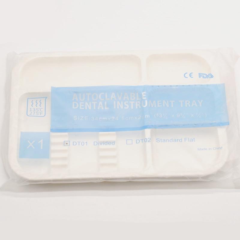 1 шт. стоматологическая клиника пункт разделенный отдельный тип лоток пластиковый инструмент Автоклавный - Цвет: 1Pcs White