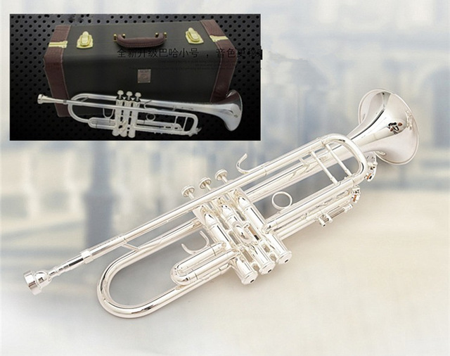 US $305 0  silver plated trumpet trumpet b trumpet flat lt197gs 96  professional playing musical instruments-in Trumpet from Sports &  Entertainment on