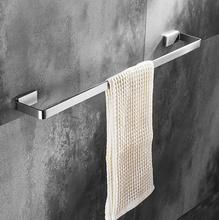 new high quality 60cm 304 stainless steel material mondern design bathroom single towel bar towel rail