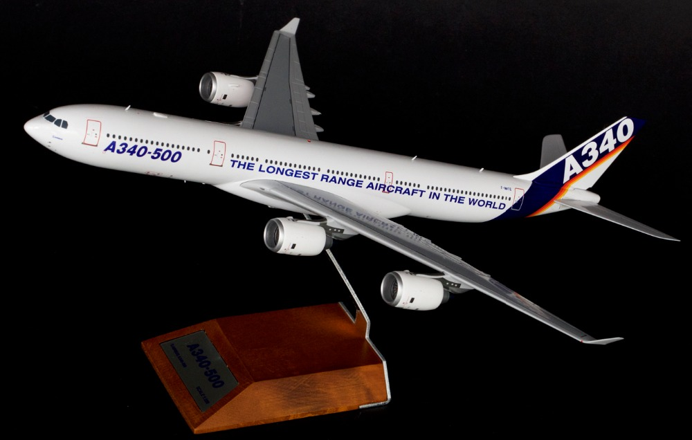 JC1: 200 Airbus A340-500 aircraft model alloy Original painting prototype Favorites Model
